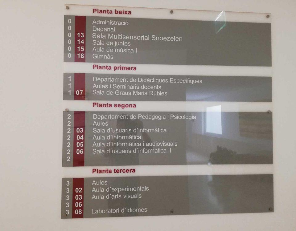 creacion de señales y directorios en Lleida