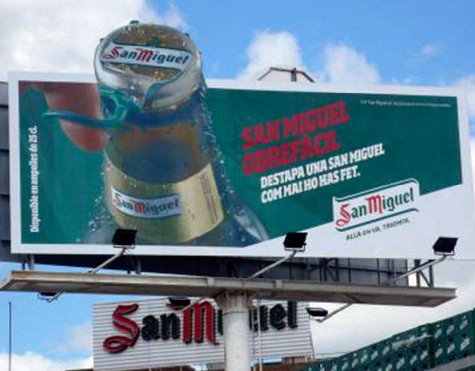 san miguel , cartel , roide , publicidad exterior , cartel publicitario , letrero , anuncio , rótulo , cartel cerveza ,