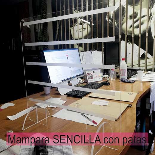 Mampara con pies. Mamparas anti contagio están especialmente indicadas para comercios y oficinas de atención al público. Lleida