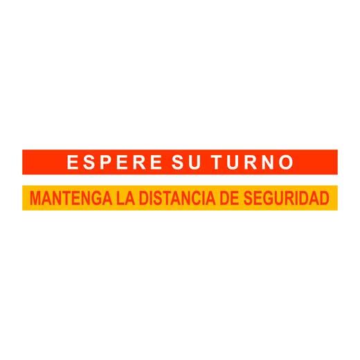 ESPERI EL SEU TORN, ESPERE SU TURNO , MANTINGUI LA DISTÀNCIA DE SEGURETAT , Roide , vinils, comerços ,