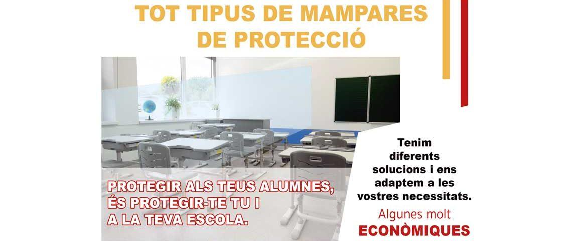 mampara proteccioón para colegios , mampara de protecció per escoles ,