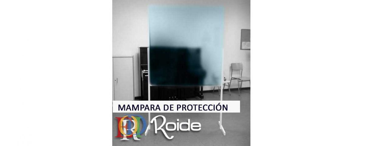 mampara de protección anti contagio