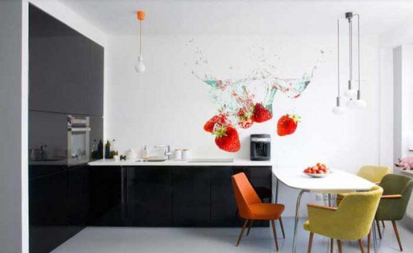 Vinilo decoración para cocinas con fresas