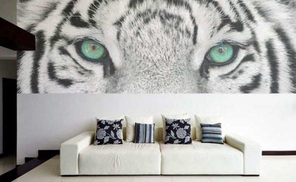 Fotomutal cabeza de tigre impresión en Lleida