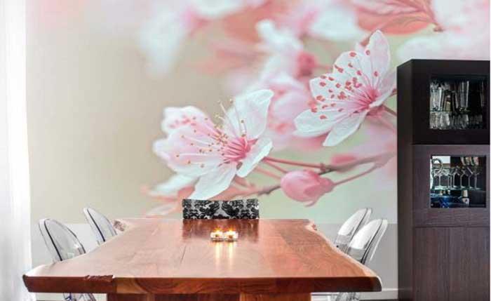 fotomural flores de almendro decoracion